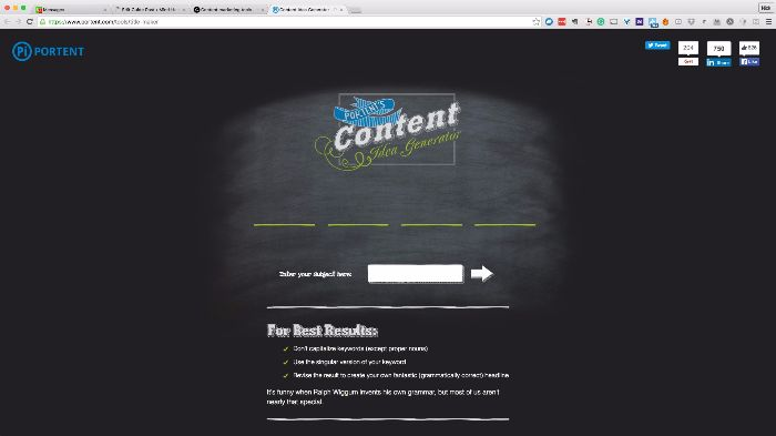 Content marketing tools the complete list 167 free and for Portent title maker