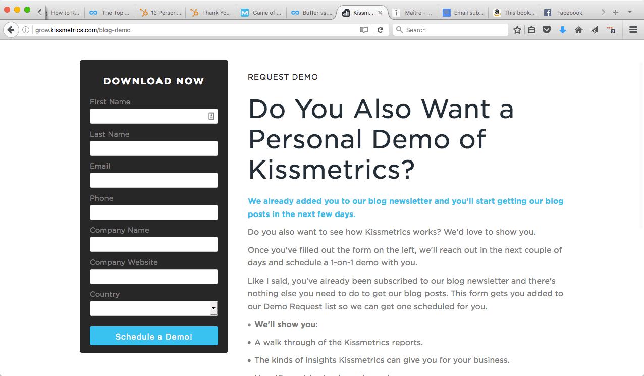 Kissmetrics Demo 1