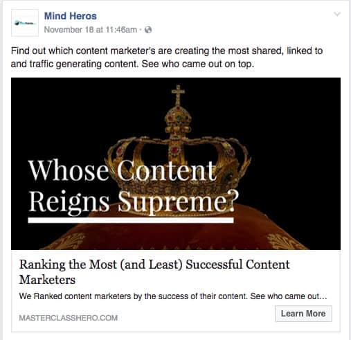 Mind Heros Find out which content marketer