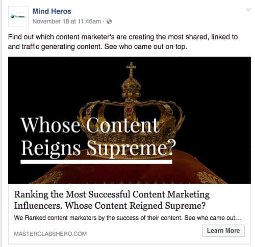 Mind Heros Find out which content marketer s are creating the