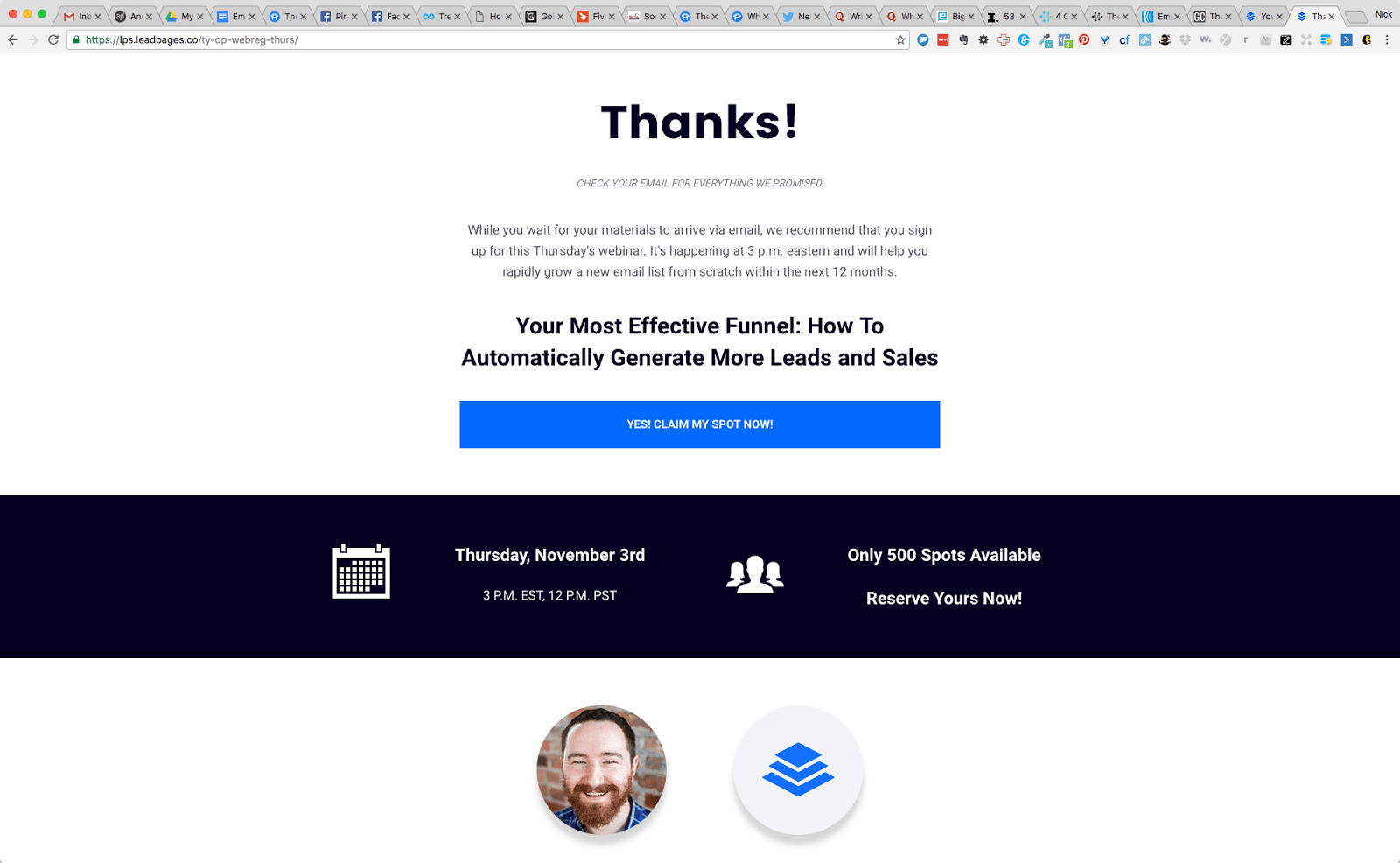 Thanks for Signing Up 1 1